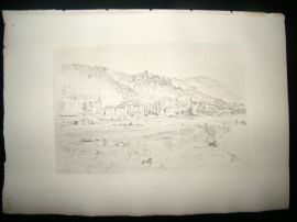 Dujardin after R. Kent Thomas 1885 Photogravure. Heidelberg Castle, Germany